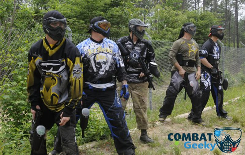 types of paintball player